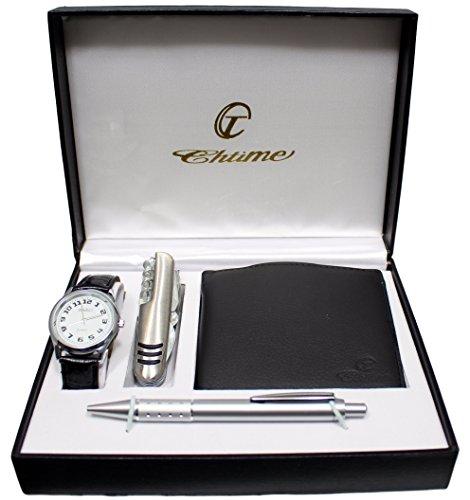 Geschenkbox von Ernest mit Herren Armbanduhr Geldboerse Stift multifunktionellem Messer