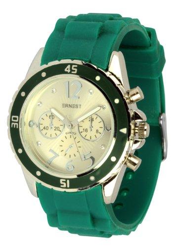 Waooh ERNEST Uhr HG9811L Silikon Armband Gruen