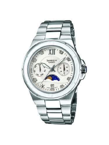 SHEEN Damen-Armbanduhr Analog Quarz Edelstahl SHE-3500D-7AER
