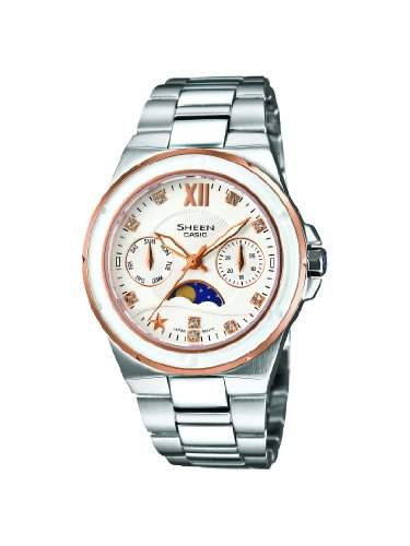 SHEEN Damen-Armbanduhr Analog Quarz Edelstahl SHE-3500SG-7AEF