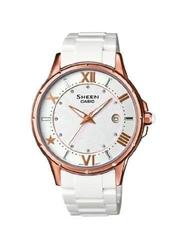 SHEEN Damen-Armbanduhr Analog Quarz Resin SHE-4024G-7AEF