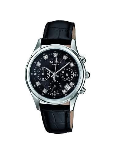 SHEEN Damen-Armbanduhr Analog Quarz Leder SHE-5023L-1AER