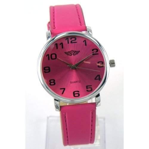 Prince London schlankes Design, aus Leder, FACE- Hot Pink