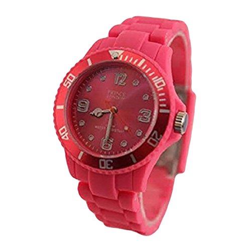 Prince London heissen rosa Spielzeug Stil Mode Unisex Mode Uhr mit 12 Monaten Garantie