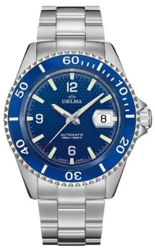 DELMA Santiago- HerrenuhrSportuhr - blau - Swiss Made