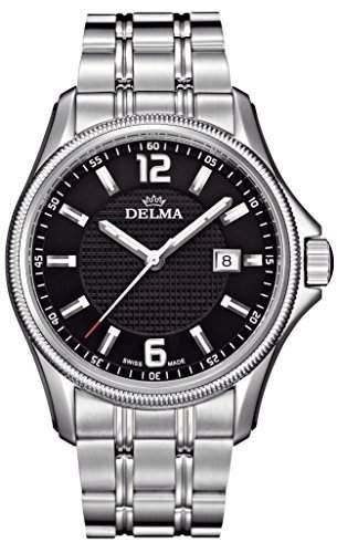 Schweizer Herrenuhr - DELMA San Marino, schwarz, Swiss Made
