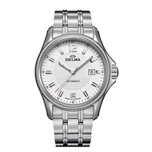 DELMA San Marino II Herren Automatik Armband Uhr Edelstahl vergoldeter Rotor