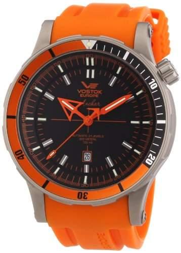 Vostok Herren-Armbanduhr XL Analog Automatik Silikon 09VS006