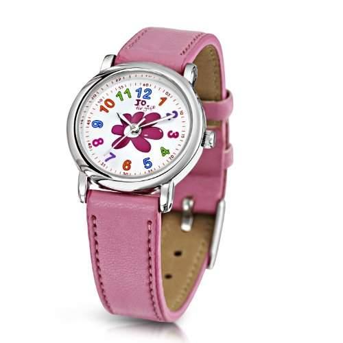 Jo for Girls Maedchen-Armbanduhr Jo for Girls Analog Kunststoff pink JW001