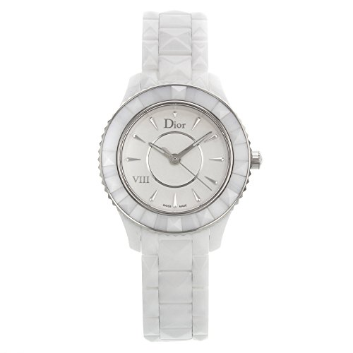 Christian Dior Dior VIII White Ceramic Stainless Steel Womens Luxury Watch Quartz CD1231E2C001