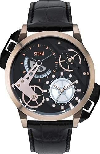 STORM Herren-Armbanduhr Analog Leder Schwarz 47147RGBK