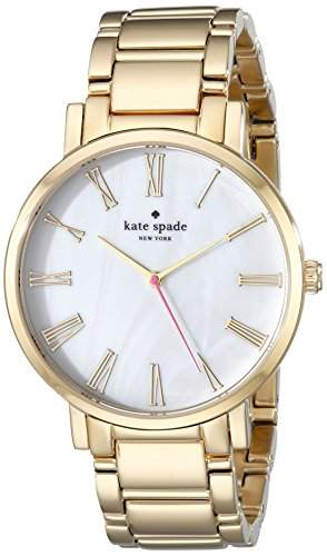 "kate spade new york Damen 1YRU0218 ""Gramercy"" Gold-Plated Stainless Steel Bracelet Armbanduhr"