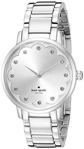 Kate Spade Armband Edelstahl Gehaeuse Quarz Zifferblatt Silber Analog KSW1046