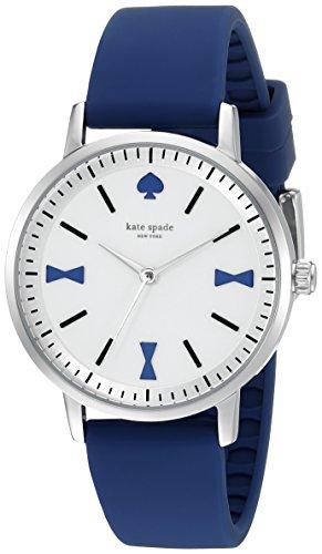 Kate Spade New York Crosby 34mm Armband Leder Blau Gehaeuse Edelstahl Quarz 1YRU0873