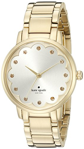 Kate Spade Armband Goldfarbenes Edelstahl Gehaeuse Quarz Analog KSW1047