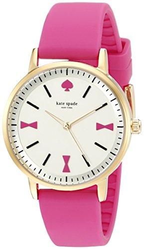 Kate Spade New York Crosby Damen Armbanduhr 34mm Armband Leder Pfirsich Quarz Zifferblatt Gold 1YRU0870