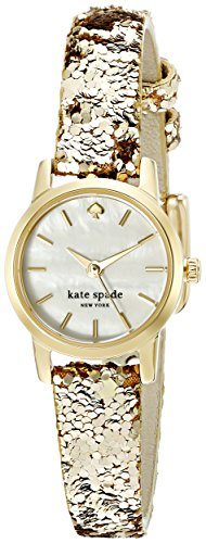 Kate Spade New York Damen ksw1011 Tiny Metro Analog Display Armbanduhr Analog Goldfarben Quarz