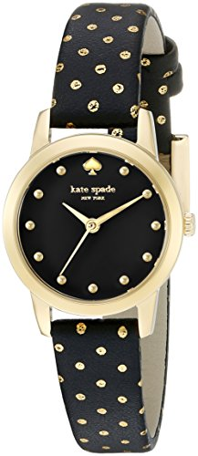 Kate Spade New York Metro Mini Polka Dot Damen Armbanduhr 25mm Armband Leder Multicolor Quarz 1YRU0890A