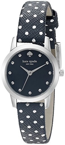 Kate Spade New York Metro Mini Polka Dot Damen Armbanduhr 25mm Armband Leder Multicolor Quarz KSW1023