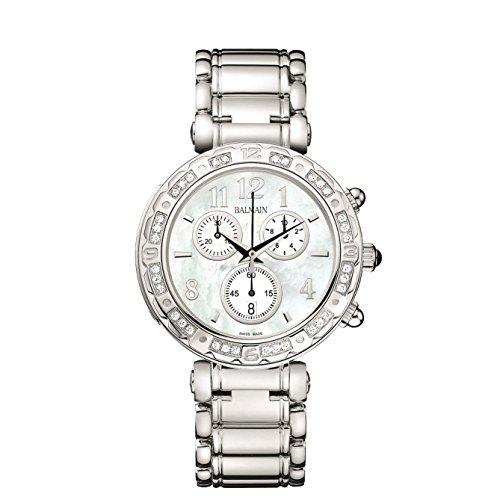 Balmain Chronograph B de B Damen Armbanduhr Armband Metall Silber Gehaeuse Edelstahl Batterie B56353384