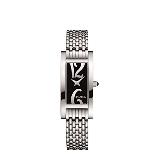 Balmain Fashion Collection Armband Metall Silber Gehaeuse Edelstahl Batterie B21913364