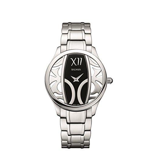 Balmain Elegance Armband Metall Silber Gehaeuse Edelstahl Saphirglas Batterie B14713362
