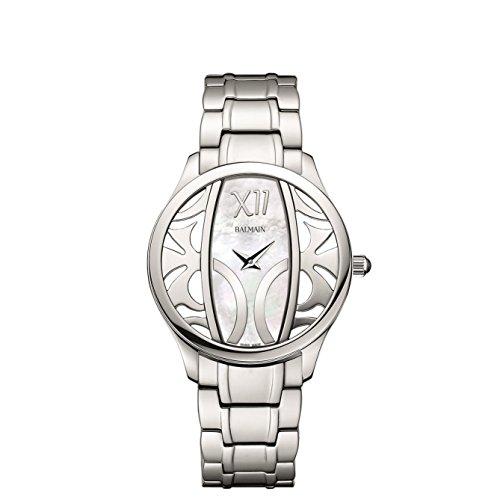 Balmain Elegance Armband Metall Silber Gehaeuse Edelstahl Saphirglas Batterie B14713382