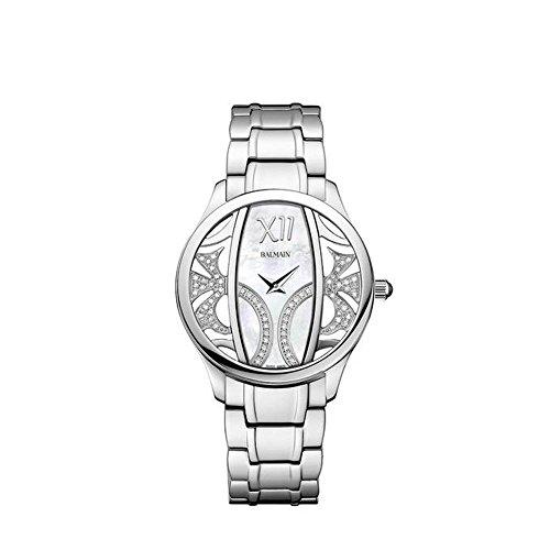 Balmain Elegance Armband Metall Silber Gehaeuse Edelstahl Saphirglas Batterie B14753382