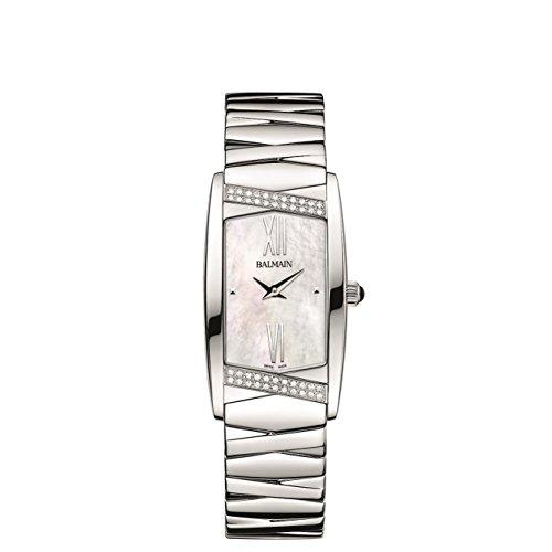 Balmain Elegance Armband Metall Silber Gehaeuse Edelstahl Saphirglas Batterie B14953382