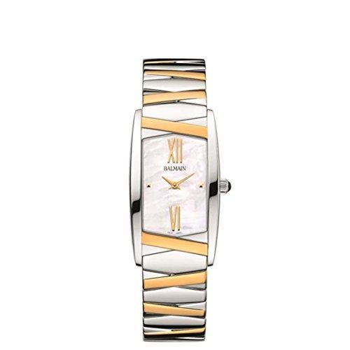 Balmain Velvet Damen Armbanduhr Armband Zweifaerbiger Edelstahl Gehaeuse Edelstahl Batterie B1492 98 82