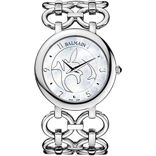 Balmain Chain Ii Damen 36mm Silber delstahl Armband Gehaeuse Uhr B3471 33 84