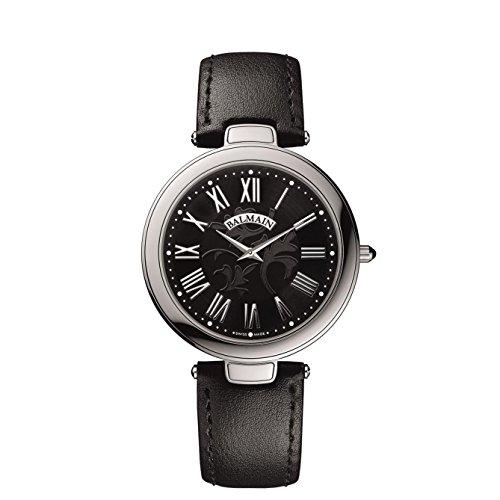 Balmain Haute Elegance Ultra Flat Herren Armbanduhr Armband Leder Gehaeuse Edelstahl Batterie B80613262