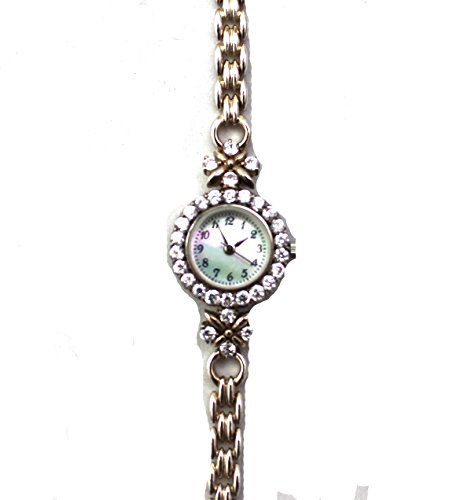 Atemberaubende Cubic Zirkonia Set Damen gekennzeichnet Sterling Silber Armband Armbanduhr