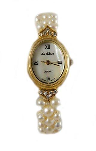 Braut Brautjungfer Hochzeit Gold Tone Echt River Pearl Armband zarte und ziemlich Neues Box