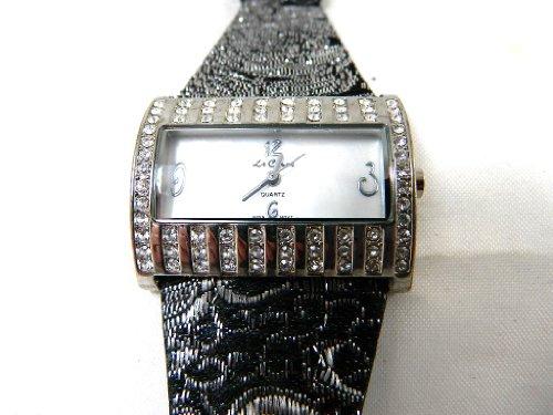 LE CHAT Damen Armbanduhr Leder Schwarz N A WATCH