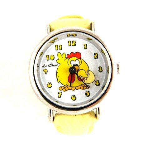 Clever Kinder niedliche Kinder Huhn Ei gelb Armbanduhr