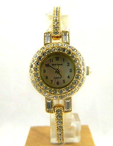 Damen Schoene rund Crystal Set Cocktail Abend Stil Armband Armbanduhr