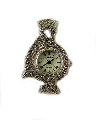 echtem Markasit Vintage Look Swan Fall und Armband Armbanduhr