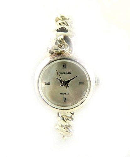 Silber gekennzeichnet Valentine Herz echtes Amethyst Armband Armbanduhr