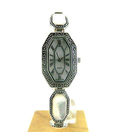 kraeftigen gekennzeichnet Silber und Echte Mutter von Pearl Gesicht und Armband Armbanduhr