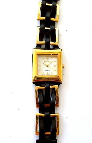 Vergoldet geflochten Armbanduhr quadratisch