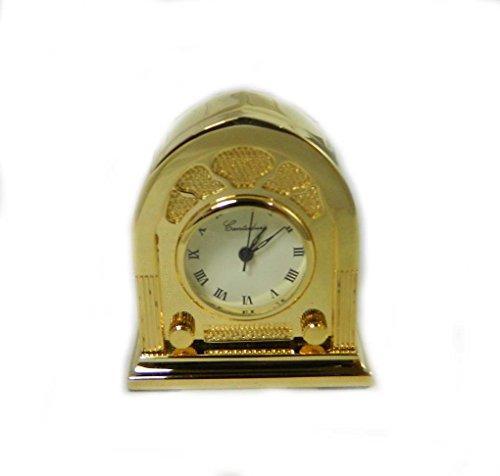 Miniatur Vintage Looking Radio Gold Ton Collectible Uhr NEU Geschenk verpackt