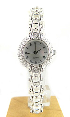 Pretty Ladies gekennzeichnet Silber Zirkonia Armband Armbanduhr schon weil 1 Armen Stein