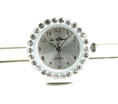 Auf Trend weiss echtem Kristall Set Ring Uhr