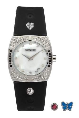 Kookaï-KO 043SBA Damen-Armbanduhr Alyce Quarz analog Silikon, Schwarz