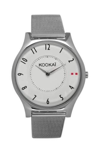 Kookaï KO - 047BM Damen-Armbanduhr Alyce Quarz analog Stahl Silber