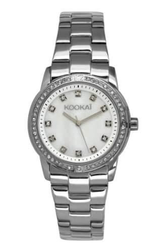 Kookaï Damen-Armbanduhr Analog Quarz Silber KO 021SFM