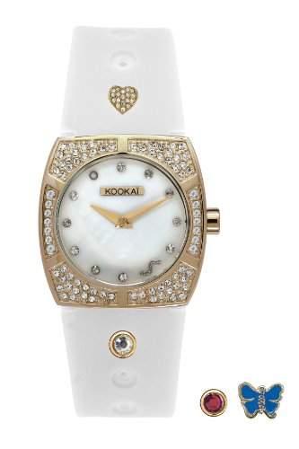 Kookaï-KO 043S1BB Damen-Armbanduhr Regate Quarz analog Silikon Weiss
