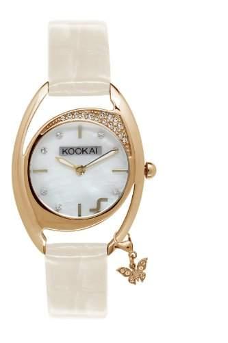 Kookaï-KO 044S1BW Damen-Armbanduhr Lolla Quarz analog Leder Weiss