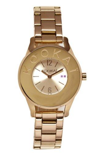 Kookai KB 027 1EM Damen Armbanduhr 045J699 Analog gold Armband Stahl vergoldet Gold